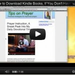 Tips On Prayer Free Until Midnight, How to Order w/o a Kindle