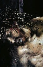 christ's face crucified