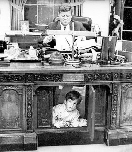jfk jr. under desk